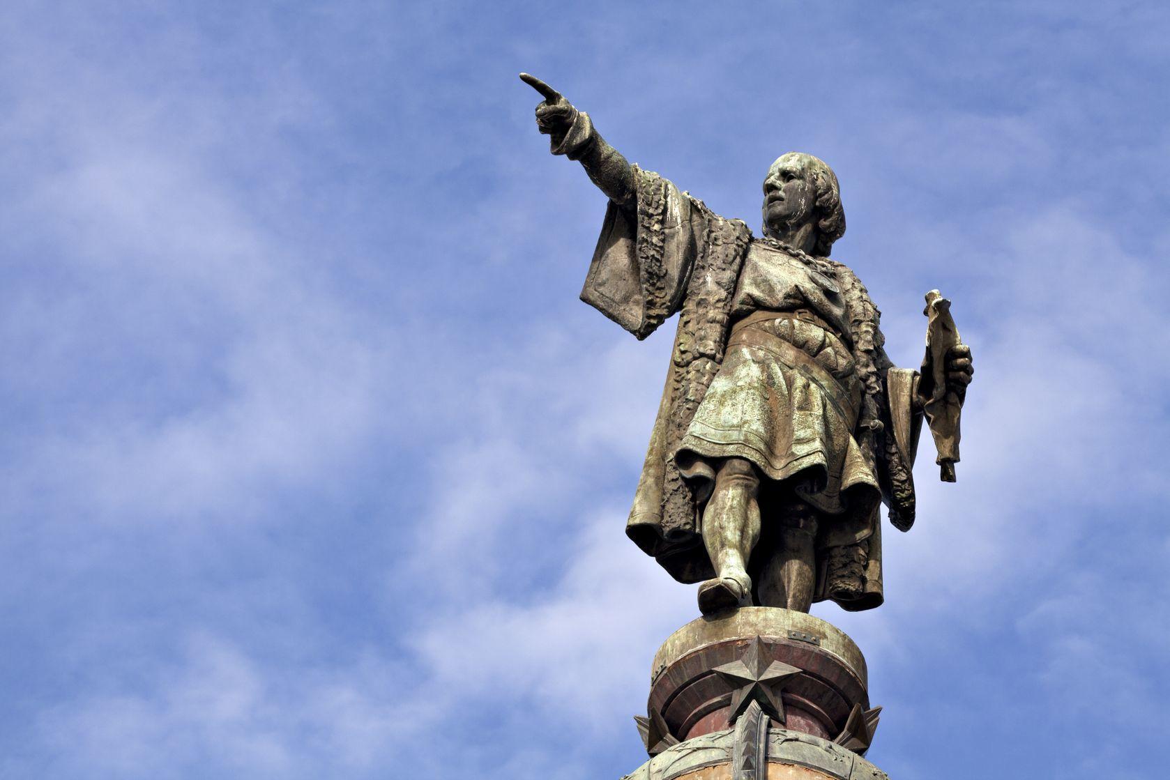 Socha Kryštofa Kolumba v Barceloně   igercelman/123RF.com