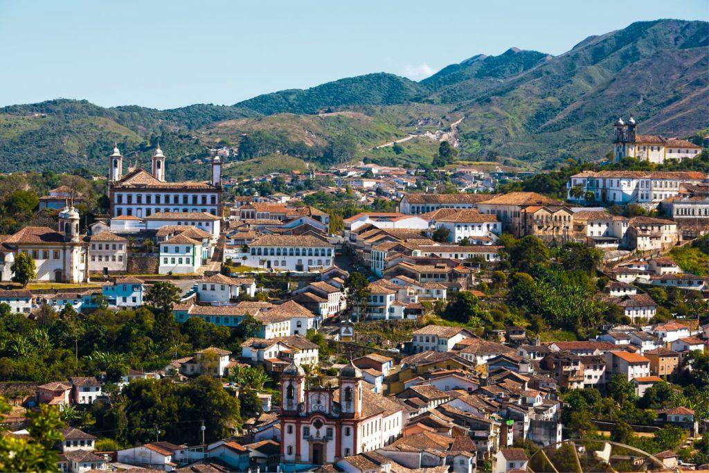 Pohled na město Ouro Preto v Minas Gerais | ostill/123RF.com