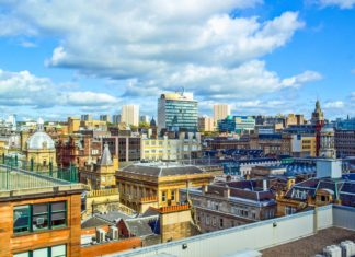 Letecký pohled na město Glasgow | claudiodivizia/123RF.com