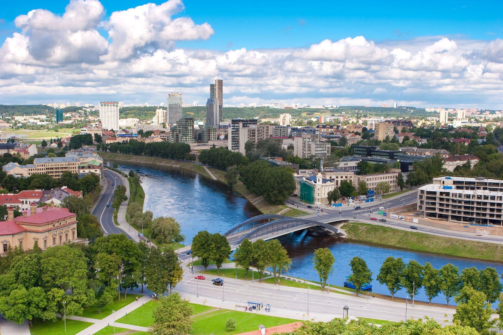 Panorama města Vilnius v Litvě   birute/123RF.com