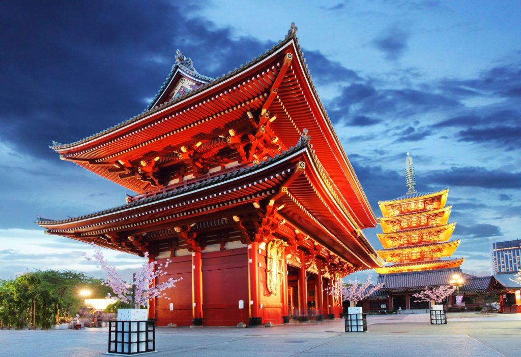 Chrám Senso-ji v oblasti Asakusa   tomas1111/123RF.com