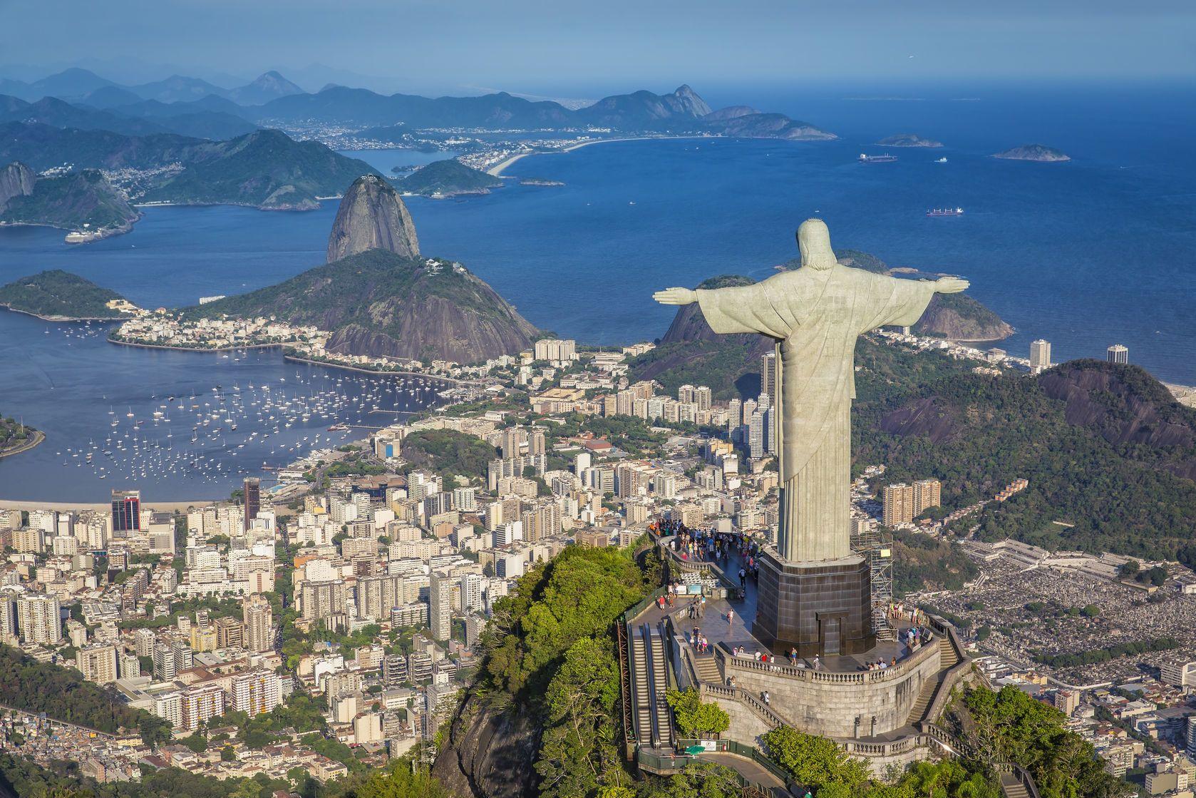 Letecký pohled na Rio De Janeiro v Brazílii | marchello74/123RF.com