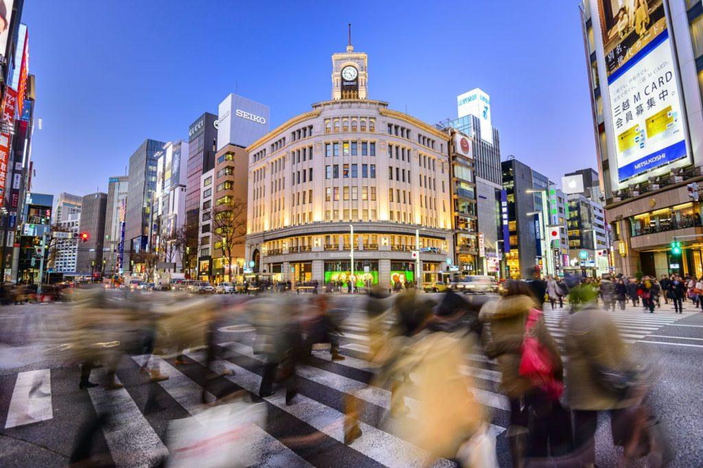 Obchodní čtvrť Ginza v Tokiu   sepavo/123RF.com