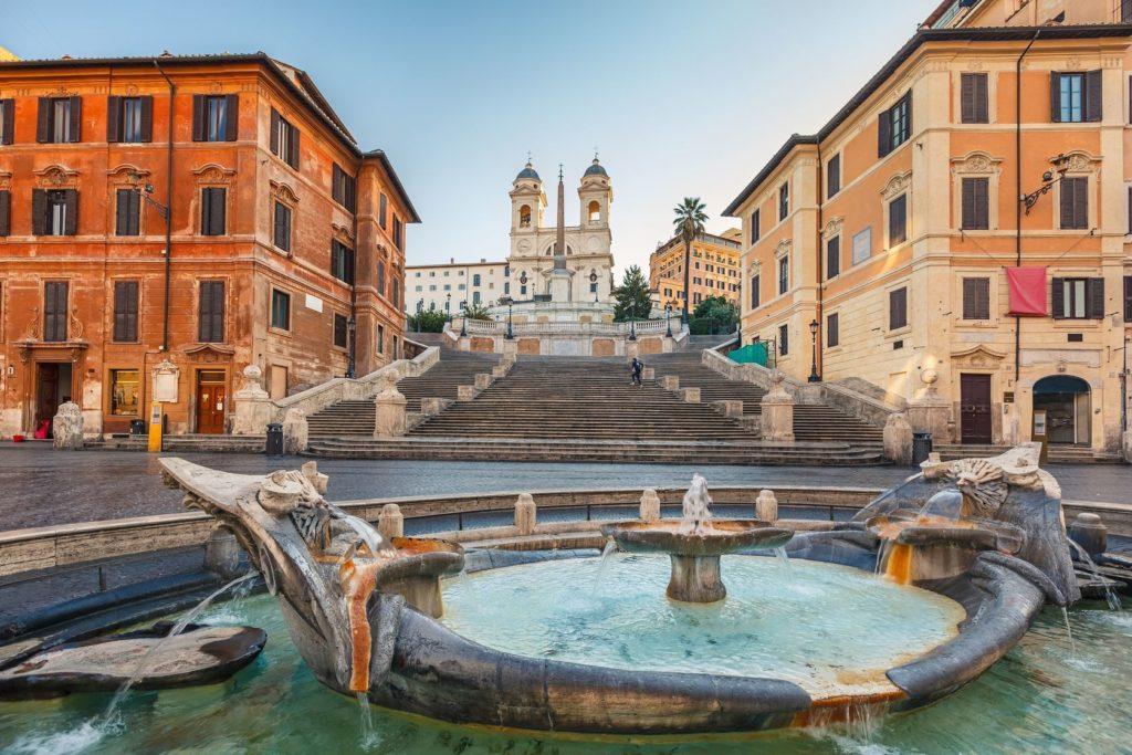 Španělské schody v Římě   sborisov/123RF.com