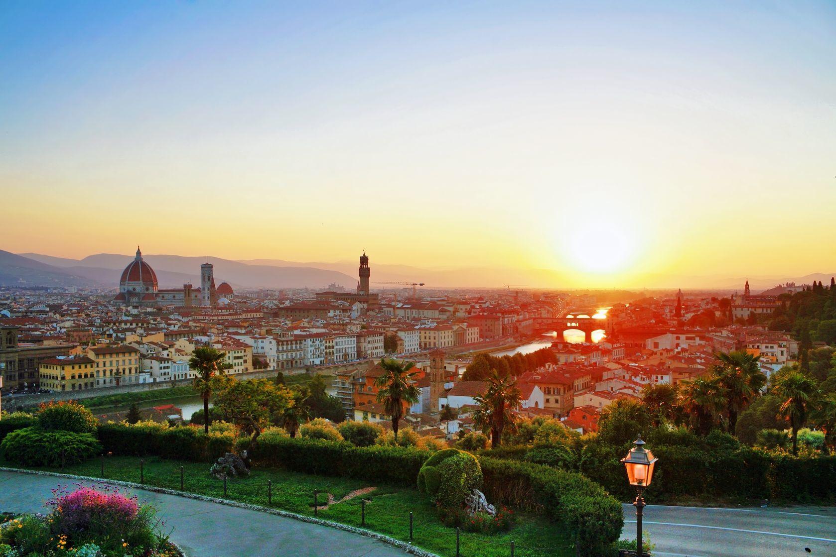 Západ slunce s výhledem na Florencii | off/123RF.com