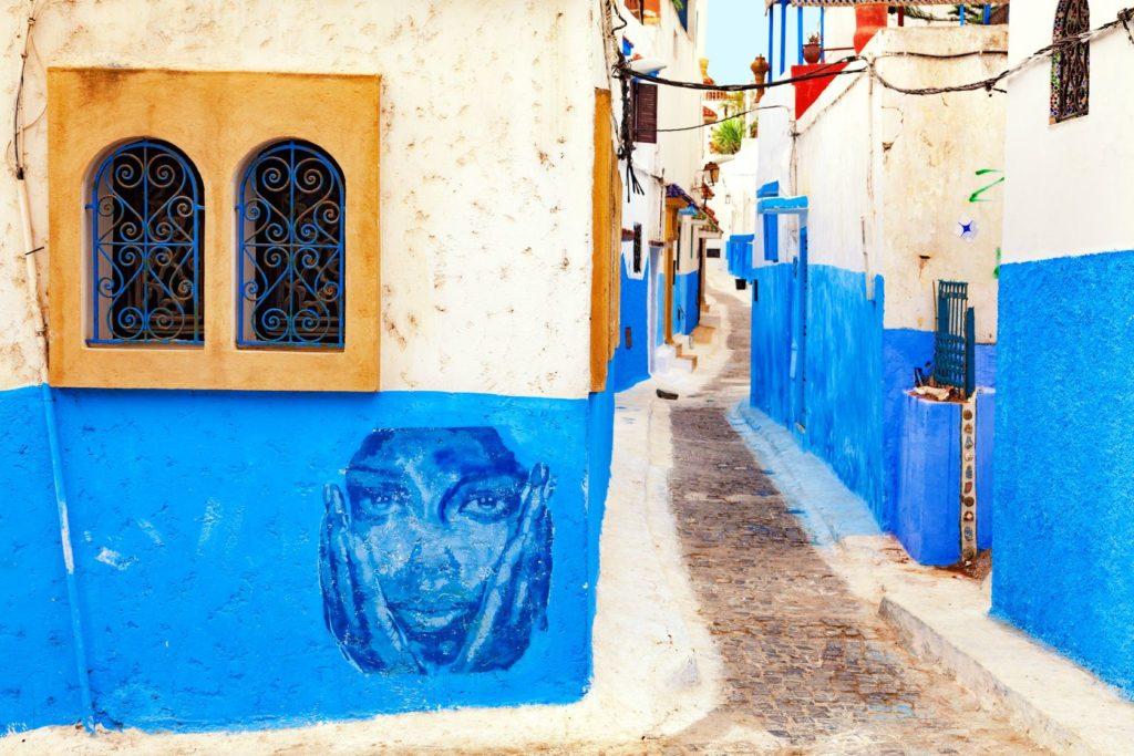 Architektura domů v Kasbah des Oudaias v Rabatu | jiss/123RF.com