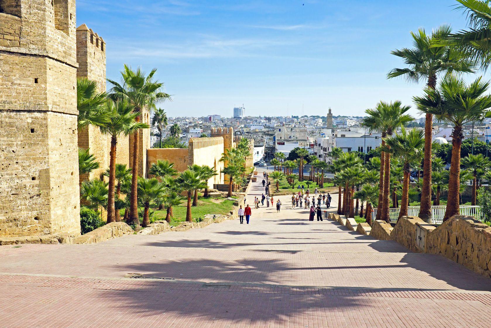 Městské hradby v Rabatu v Maroku | nisanga/123RF.com
