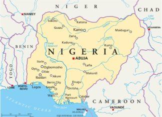 Politická mapa Nigérie s hlavním městem Abuja | peterhermesfurian/123RF.com