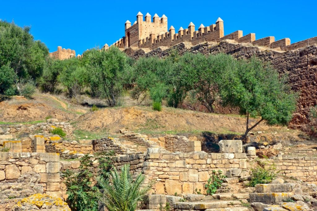 Ruiny historického komplexu Chellah v Rabatu | dbajurin/123RF.com