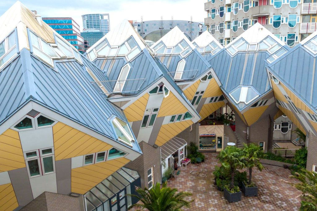 Krychlové domy Kijk-Kubus v Rotterdamu | rangzen/123RF.com