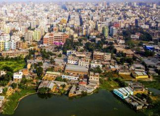 Letecký pohled na Dháku v Bangladéši | meinzahn/123RF.com
