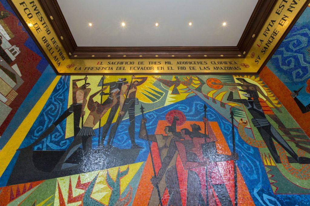 Nástěnná malba v muzeu Guayasamín ve městě Quito | piccaya/123RF.com