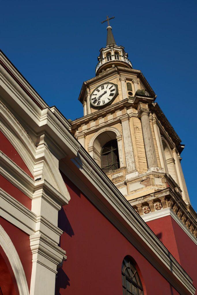 Věž Iglesia de San Francisco v Santiago de Chile | jeremyrichards/123RF.com