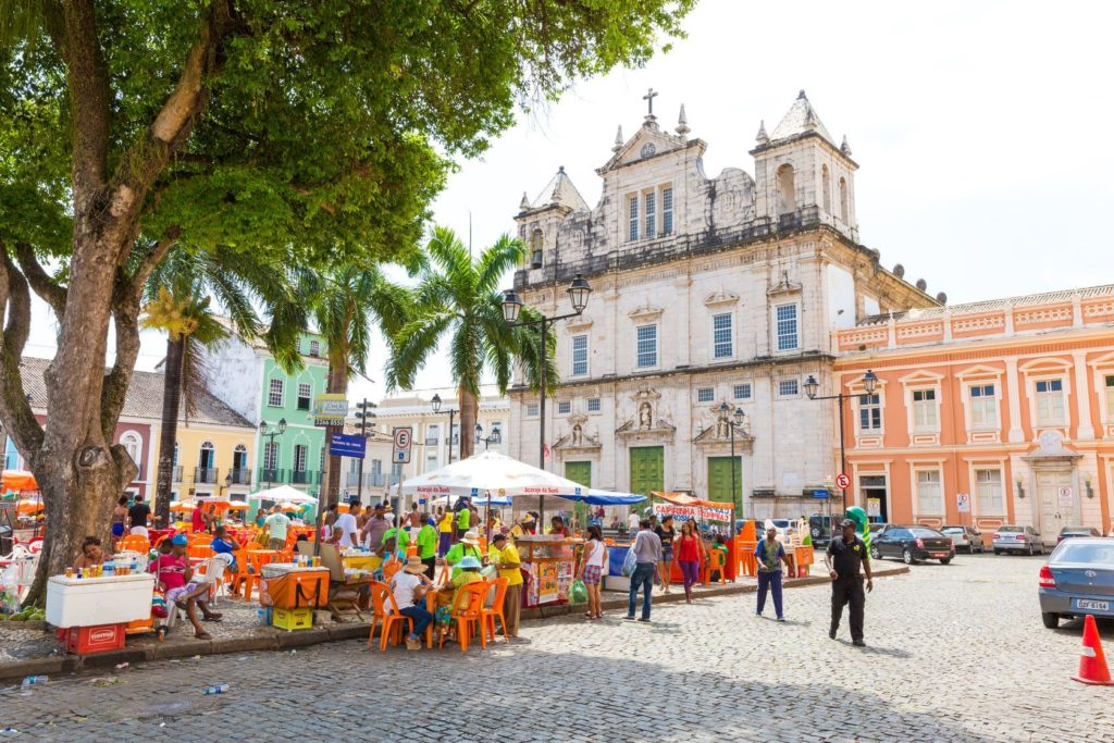 Historické centrum Salvadoru v Brazílii   filipefrazao/123RF.com