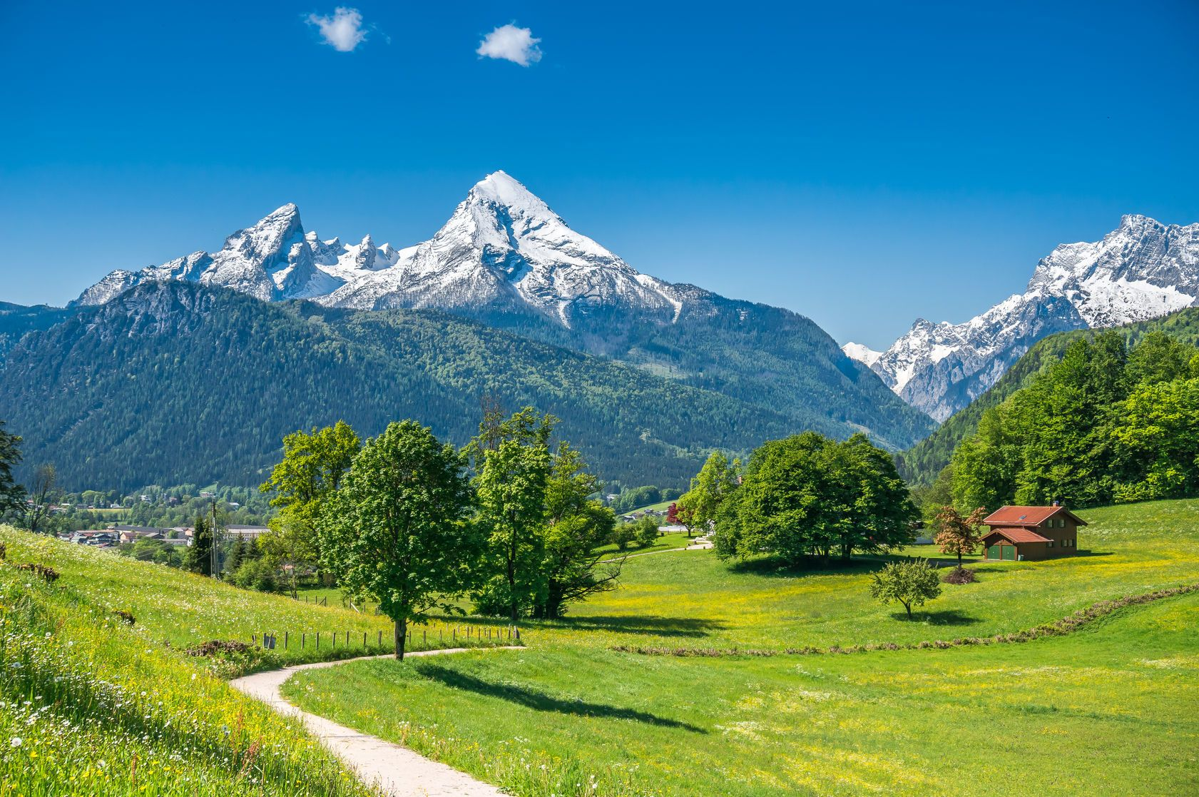 Letní krajina v německých Alpách | jakobradlgruber/123RF.com