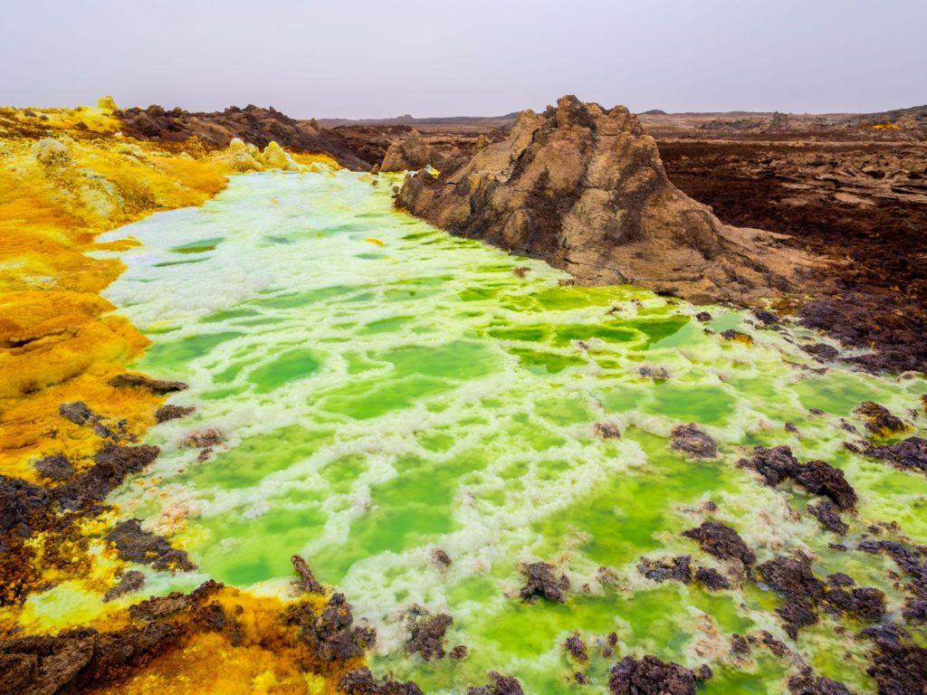 Oblast Danakilské prolákliny v Etiopii | magdalenapaluchowska/123RF.com