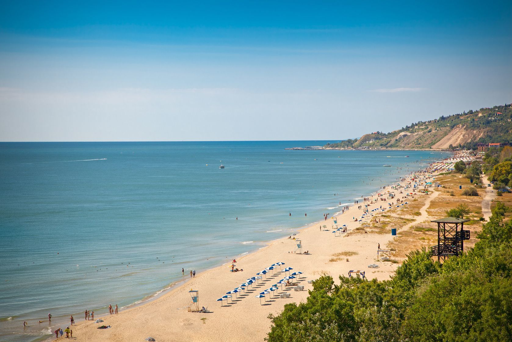 Panoramatický pohled na Zlaté pobřeží v Bulharsku   master2/123RF.com