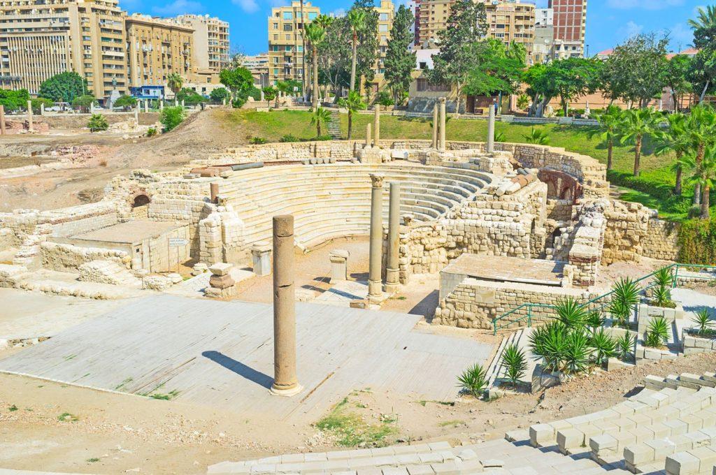 Pozůstatky Římského amfiteátru v Alexandrii | efesenko84/123RF.com