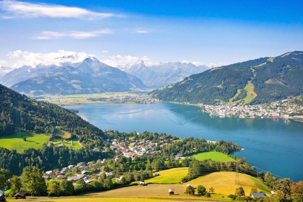 Turistická oblat Zell am See v Rakousku | jakobradlgruber/123RF.com