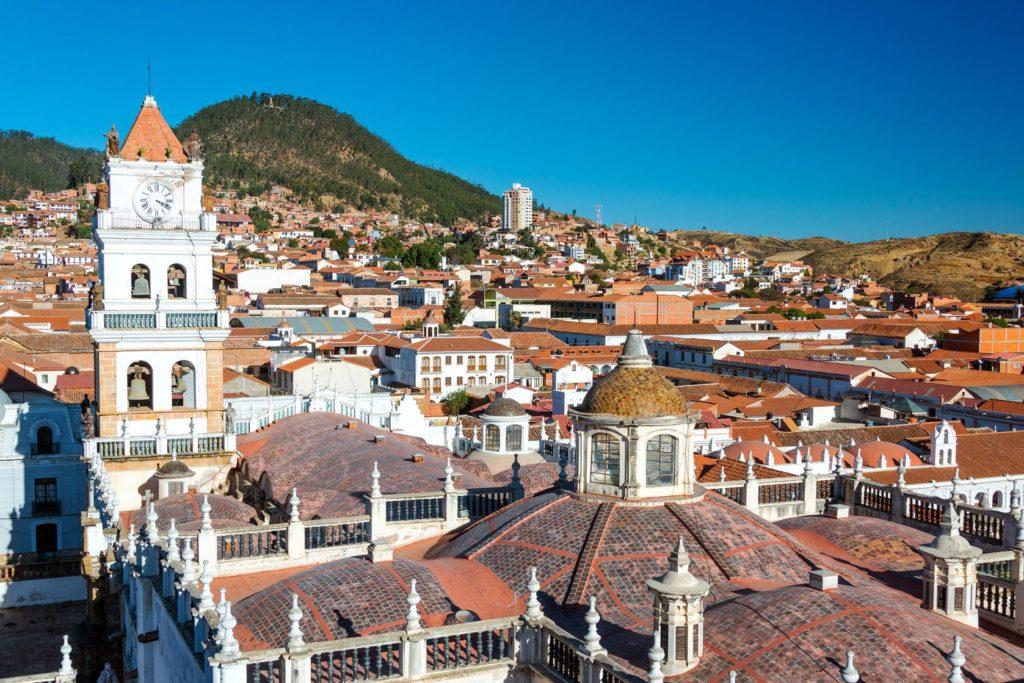 Pohled na město Sucre v Bolívii | jkraft5/123RF.com